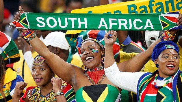 Fanoušci fotbalistů Jihoafrické republiky - ilustrační foto.