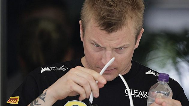 Finský pilot F1 Kimi Räikkönen.