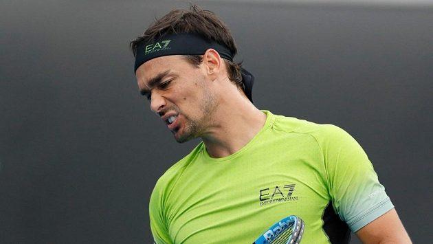 Italský tenista Fabio Fognini.