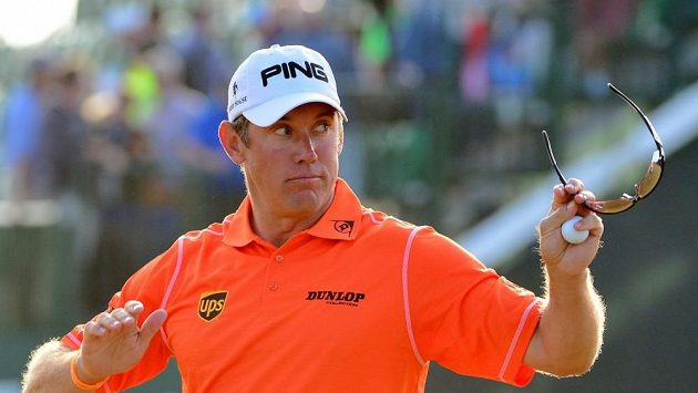 Lee Westwood na The Open.