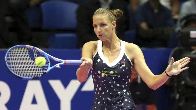 Česká tenistka Karolína Plíšková ve čtvrtfinále turnaje v Tokiu.