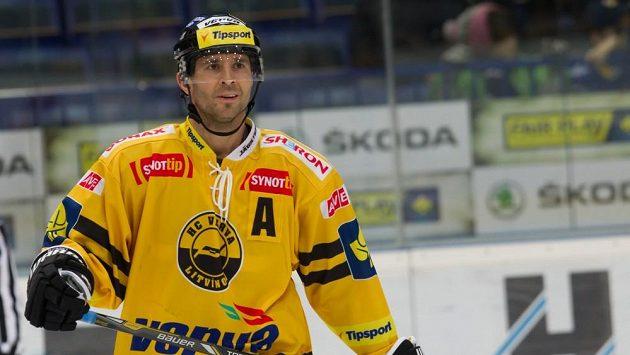 Martin Ručínský na tréninku hokejistů Litvínova.