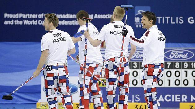 Radost norských curlerů na MS v Pekingu.