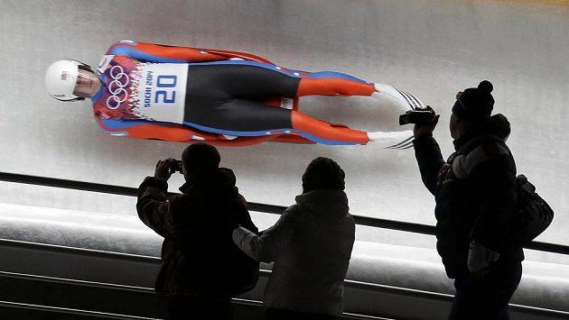 Sáňkař Ondřej Hyman na olympijské dráze.
