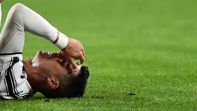 Zklamaná hvězda Juventusu - Cristiano Ronaldo.
