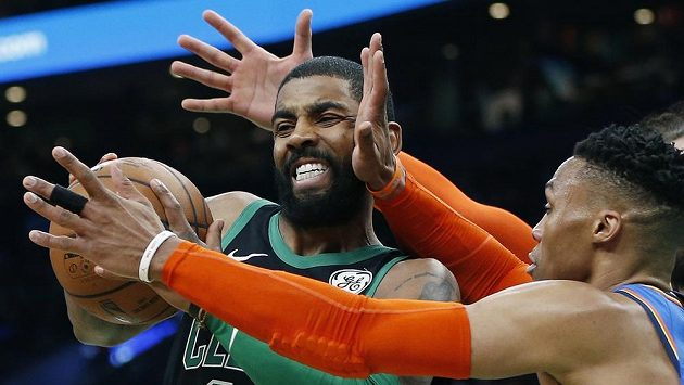 Celtics táhl za výhrou Kyrie Irving, který zaznamenal 30 bodů a 11 doskoků. V tuto chvíli jej brání Russell Westbrook z týmu Oklahoma City Thunder.