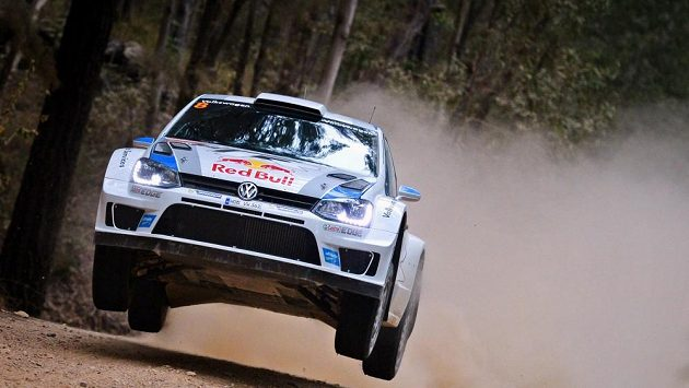Sébastien Ogier na Australské rallye.