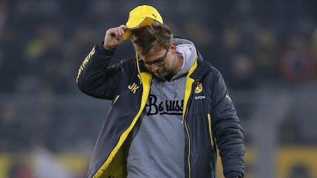 Rozmrzelý trenér Borussie Dortmund Jürgen Klopp