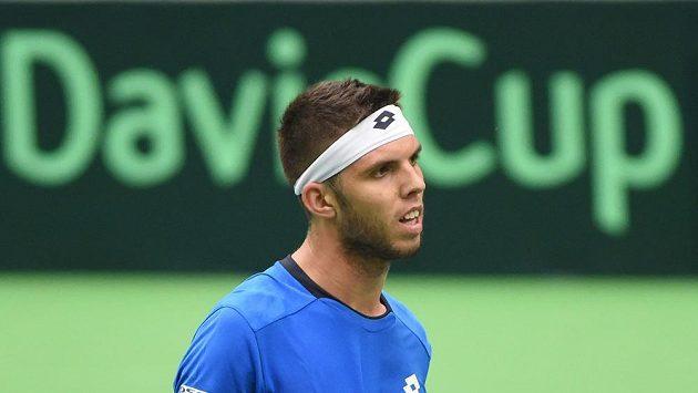 Jiří Veselý v zápase Davisova poháru s Austrálií - ilustrační foto