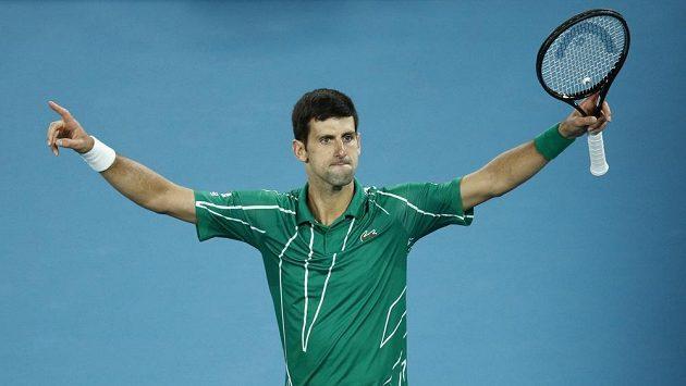 Novak Djokovič na Australian Open. Ilustrační foto.