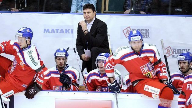 Trenér národního týmu Vladimír Růžička.
