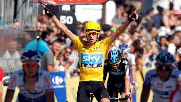 Bradley Wiggins jako úspěšný cyklista.