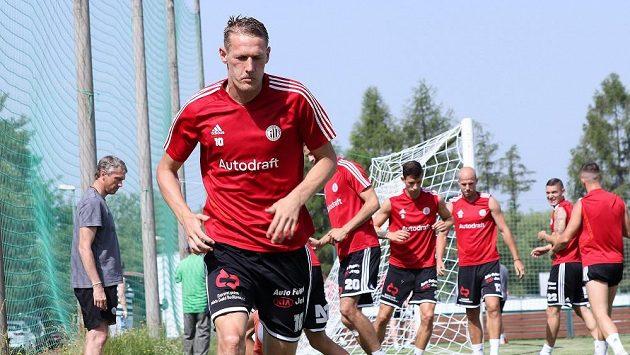 Fotbalisté Českých Budějovic se vrhli do přípravy na novou sezonou i s útočníkem Michalem Škodou.