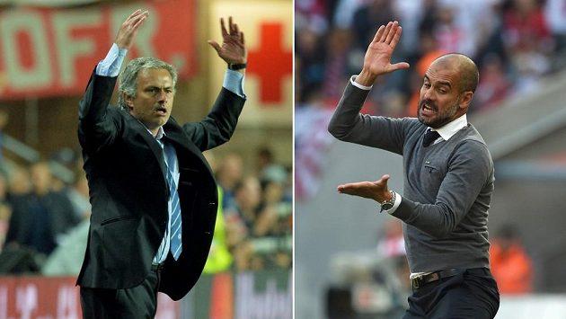 José Mourinho (vlevo) a Pep Guardiola.