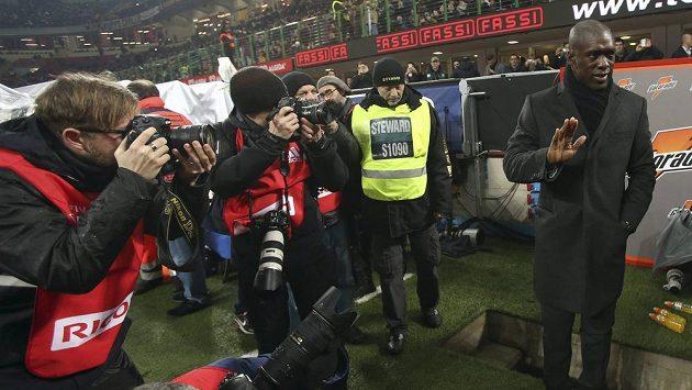 Clarence Seedorf při své premiéře v roli kouče AC Milán