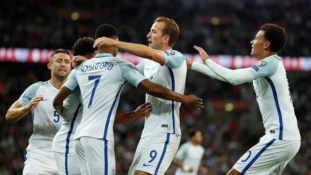 Fotbalisté Anglie vyhráli v kvalifikaci o postup na MS 2018 nad Slovenskem 2:1. Ilustrační snímek.
