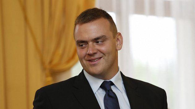 Koulař Ladislav Prášil na setkání sportovců s ministrem obrany Martinem Stropnickým.