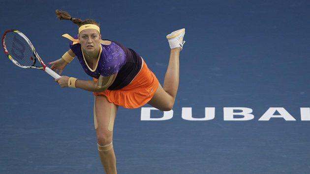 Petra Kvitová porazila na turnaji v Dubaji Slovenku Danielu Hantuchovou.