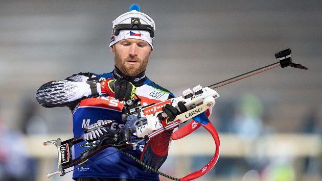 Michal Šlesingr během prvního tréninku v rámci SP v Novém Městě na Moravě.