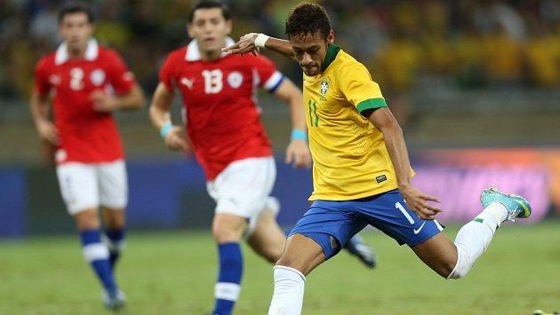 Brazilský útočník Neymar.