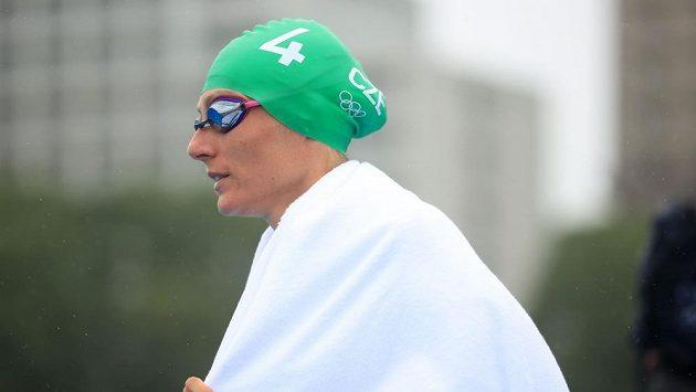 Česká triatlonistka Petra Kuříková před závodem triatlonistek na OH v Tokiu.