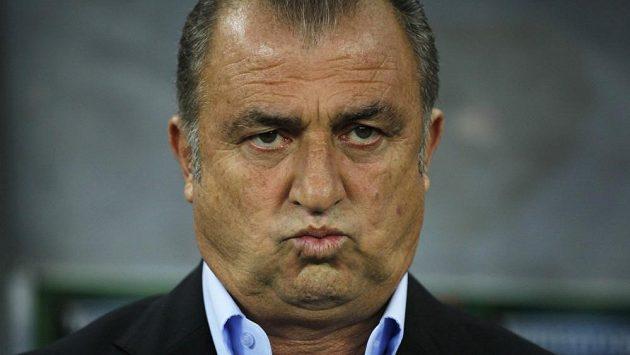 Zamračený kouč Galatasaraye Fatih Terim .