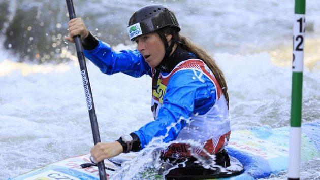 Kateřina Kudějová na mistrovství světa ve vodním slalomu ve Španělsku.