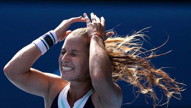 Radost Slovenky Dominky Cibulkové z postupu do finále Australian Open.