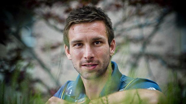 Badmintonista Petr Koukal na tiskové konferenci v Praze před odletem na mistrovství světa v čínském Kuang-čou.