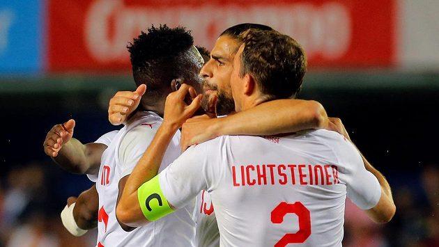 Radost švýcarských fotbalistů.