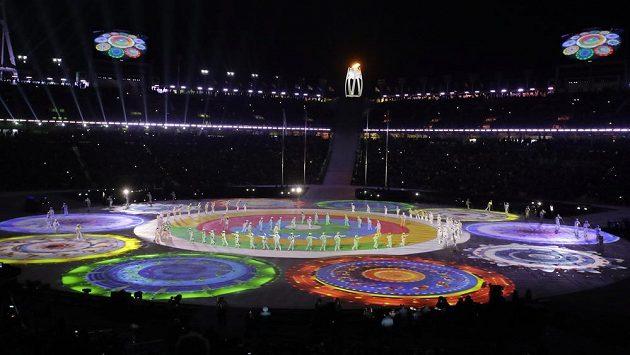 Slavnostní zakončení 24. Zimních olympijskách her v Koreji.