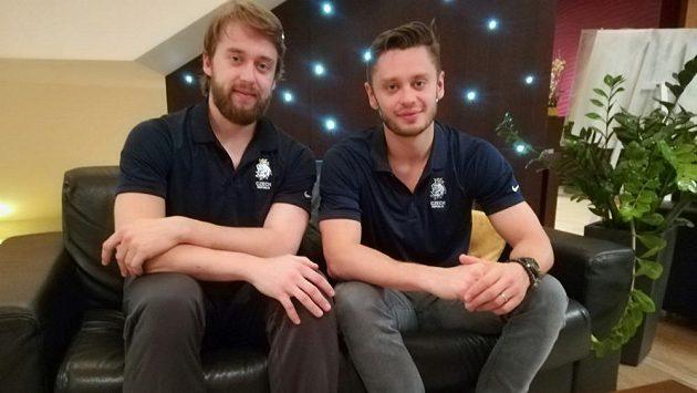Bratři Hynek (vlevo) a Tomáš Zohornové na mistrovství světa v Bratislavě.