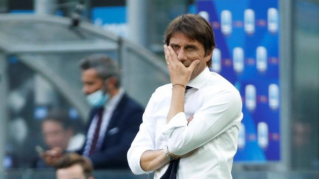 Kouč Interu Milán Antonio Conte nebyl s výkonem svého týmu proti Boloni spokojený.