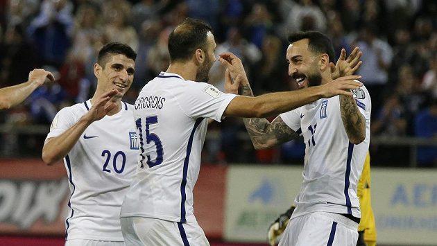 Fotbalisté Řecka slaví. Vyhráli nad Gibraltarem a zahrají si baráž o účast na MS 2018.