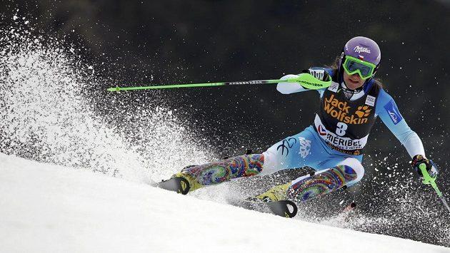 Lyžařka Strachová v posledním slalomu končící sezóny Světového poháru ve francouzském Méribelu.