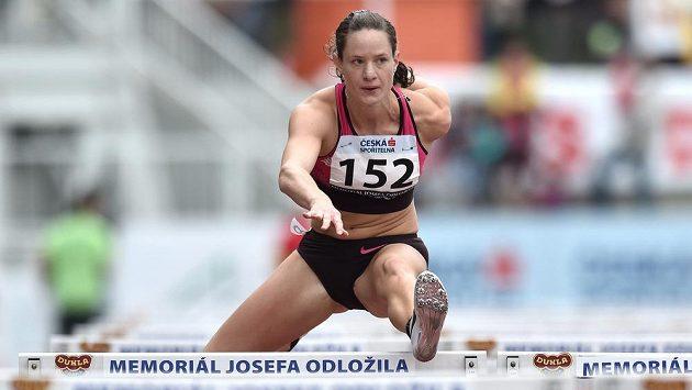 Kateřina Cachová na atletickém mítinku Memoriál Josefa Odložila.