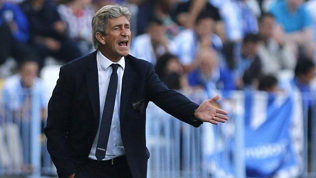 Trenér Manuel Pellegrini ještě na lavičce Málagy.