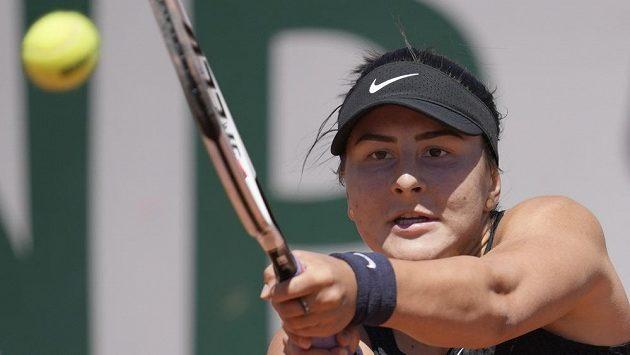 Kanadská tenistka Bianca Andreescuová na letošním French Open.