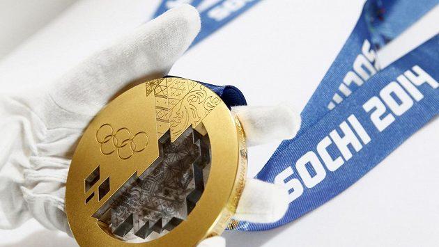 Olympijské medaile pro hry v ruském Soči.