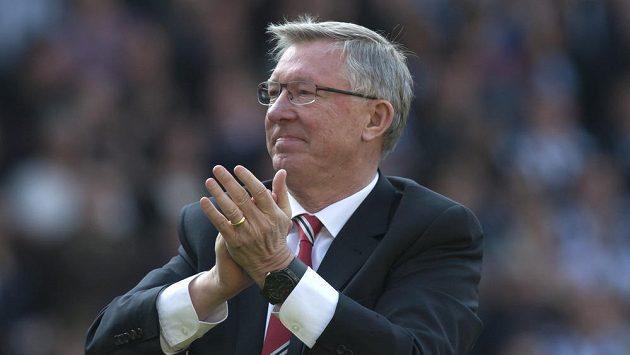 Loučení trenéra Manchesteru United Alexe Fergusona.
