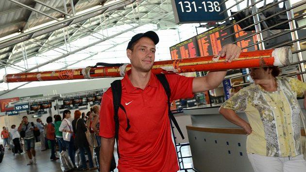 Oštěpař Vítězslav Veselý před pondělním odletem na mistrovství světa do Moskvy.
