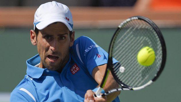 Novak Djokovič při finálovém utkání na turnaji v Indian Wells.