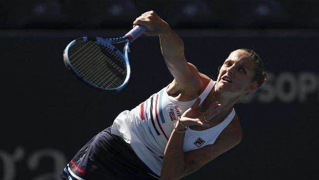 Karolína Plíšková vstoupila do US Open proti Tereze Martincové.