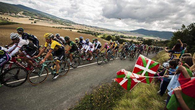Cyklisté během Vuelty.