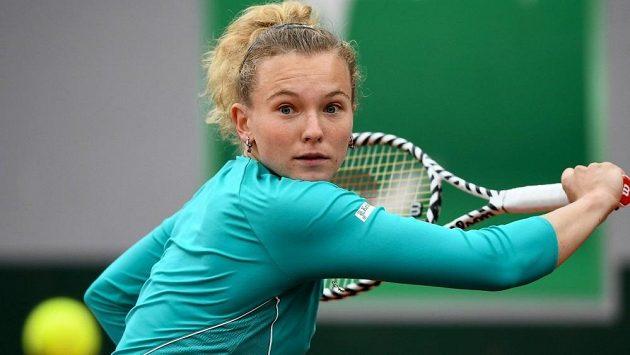 Kateřina Siniaková na letošním French Open v Paříži.