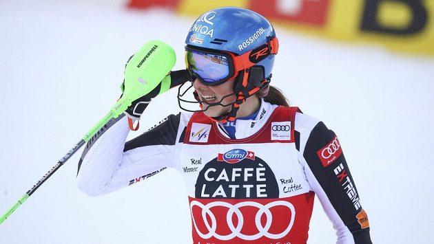 Slovenská lyžařka Petra Vlhová v Lenzerheide.