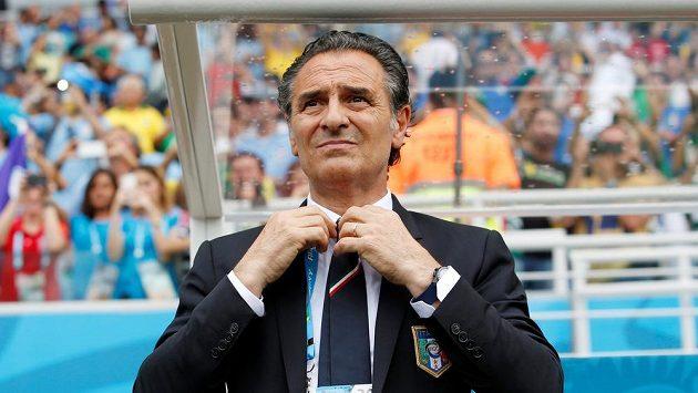Cesare Prandelli jako kouč Itálie na MS 2014.