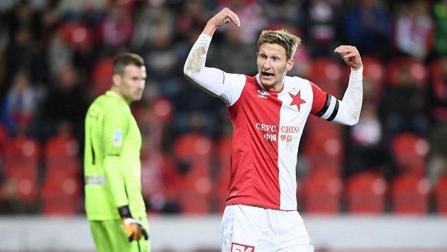 Slavásta Milan Škoda při utkání s Libercem.