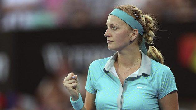 Petra Kvitová během semifinále v Sydney.