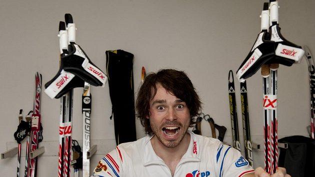 Běžec na lyžích Aleš Razým v přípravě na MS.